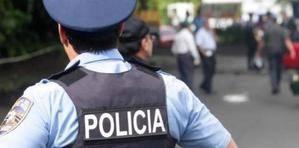 Miembro de la Policía en San Juan, Puerto Rico.