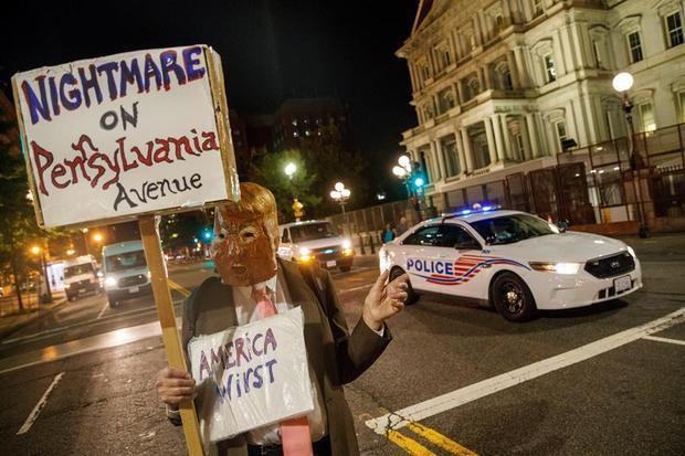 Convocan protestas en Washington con motivo del discurso de Trump.