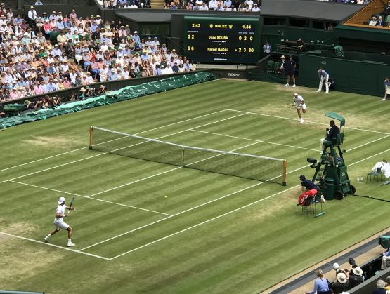 Torneo Wimbledon, Nadal vs Sousa.