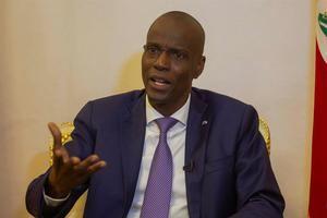 Fotografía que muestra al presidente de Haití, Jovenel Moise.