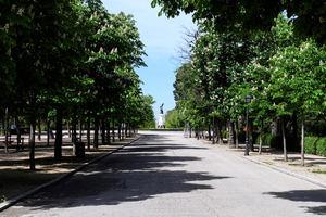 Vista del parque del Retiro de Madrid.