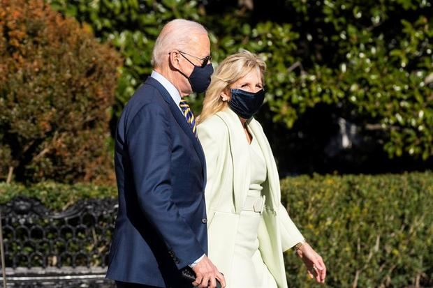 En la imagen, el presidente de Estados Unidos, Joe Biden y la primera dama, Jill Biden.