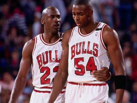 Michael Jordan y Horace Grant.