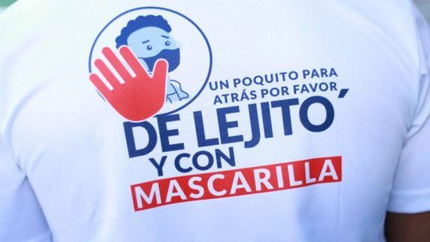 "Provincia Salcedo inicia campaña ""De Lejito' y con Mascarilla"""
