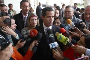 En la imagen, el presidente de la Asamblea Nacional de Venezuela, Juan Guaidó.