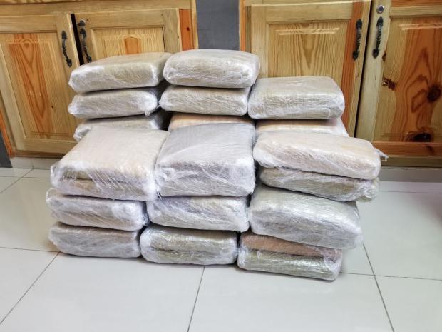 Ocupan 332 libras de presunta marihuana en Provincia Independencia y Distrito Nacional