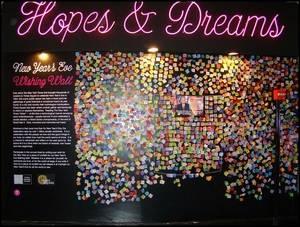 Muro de deseos, Times Square