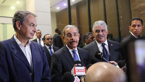 Zapatero, Medina y Vargas discutirán hoy el díalogo entre los actores políticos venezolanos