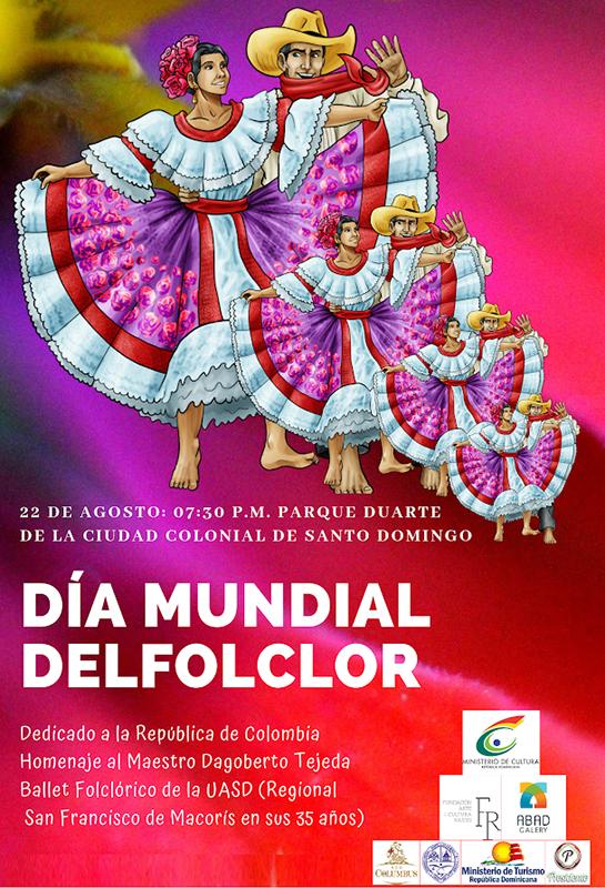 Afiche Día Mundial del Folclor.