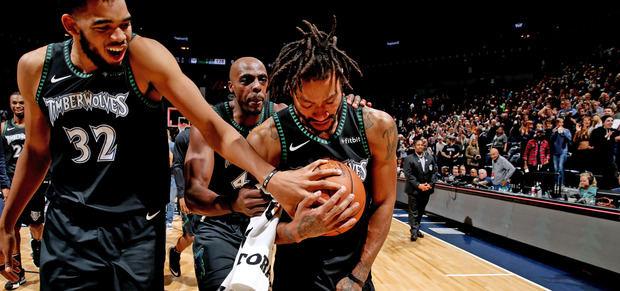 Rose anotó 50 puntos en victoria de los Timberwolves