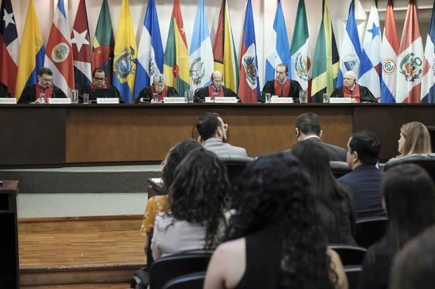 Fotografía de archivo de la vista general de una sesión de la Corte Interamericana de Derechos Humanos, CorteIDH.