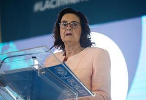 En la imagen, la representante de Unicef en la República Dominicana, Rosa Elcarte.