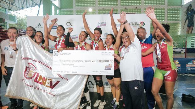 La Universidad Nacional Evangélica (UNEV) obtuvo el segundo lugar en la categoría de voleibol de la Copa Universitaria Popular.