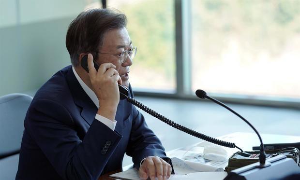Presidente surcoreano, Moon Jae-in.