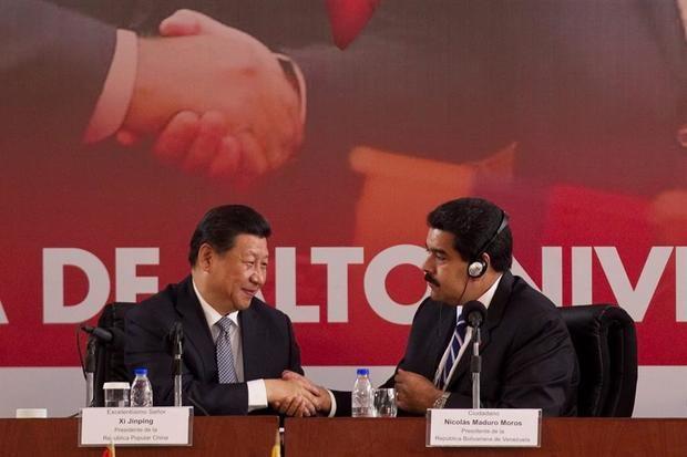 En la imagen, el presidente venezolano, Nicolas Maduro y su homólogo de China, Xi Jinping.