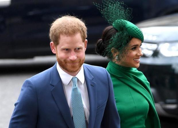 Fotografía tomada el pasado 9 de marzo en la que se registró a los duques de Sussex, el príncipe Enrique y Meghan Markle, en Londres, Inglaterra.