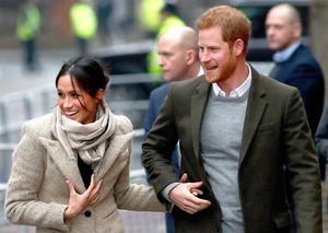 En la imagen, el príncipe Enrique y Megan Markle.