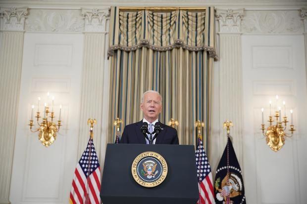 El presidente de EE.UU., Joe Biden, habla, este 24 de septiembre de 2021, desde la Casa Blanca, en Washington.