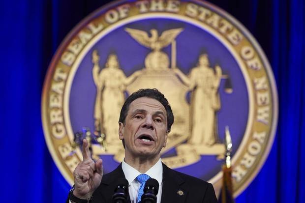 En la imagen, el gobernado de Nueva York, Andrew Cuomo.