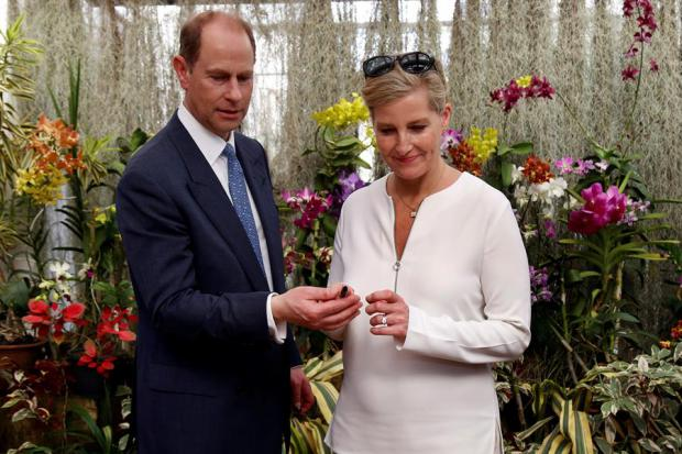 El príncipe Eduardo del Reino Unido, Conde de Wessex (i), y su esposa, Sofía.