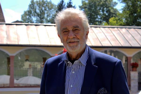 El tenor Plácido Domingo.
