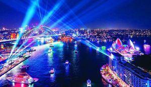 El Festival Vivid de Sidney arrancó con una serie de instalaciones luminosas en diversos puntos de la ciudad.