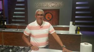 Fidel López, en la escenografía de Máster Chef.
