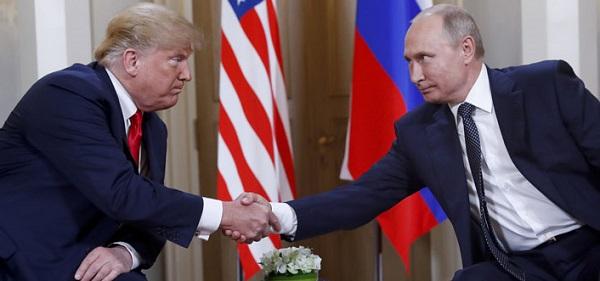 Donald Trump y Vladímir Putin en su prime encuentro