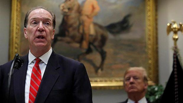 El Banco Mundial confirma al estadounidense Malpass como su nuevo presidente