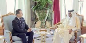 Embajador Federico Cuello Camilo y el Sheikh Tamim bin Hamam Al Thani,