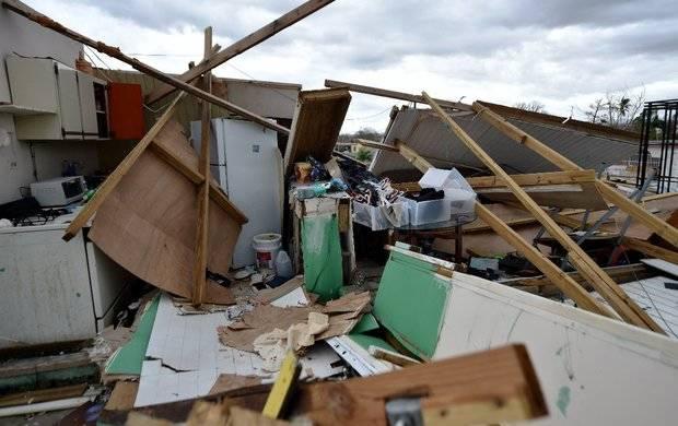 Destrucción de huracanes en Puerto Rico.