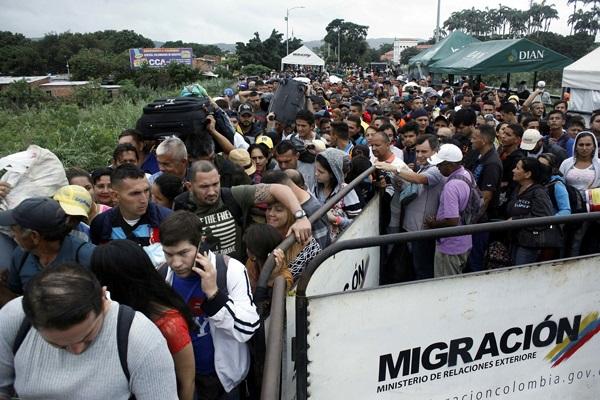 Migración masiva de venezolanos