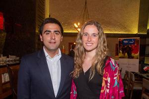 Carlos Gutiérrez y Florencia Cubillos.
