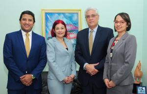 Rubén Martínez, Zurina Lench, Silvestre Aybar y Rosanna Firpo