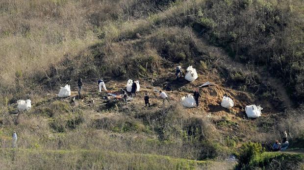 Recuperaron los nueve cuerpos del lugar accidente murió Kobe Bryant.