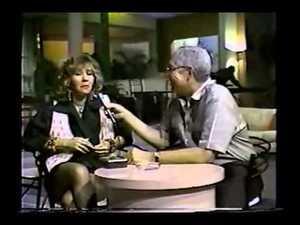 Magda Florencio es entrevistada en un programa de TV Nacional.