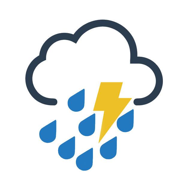 Algunos aguaceros y tormentas eléctricas por vaguada