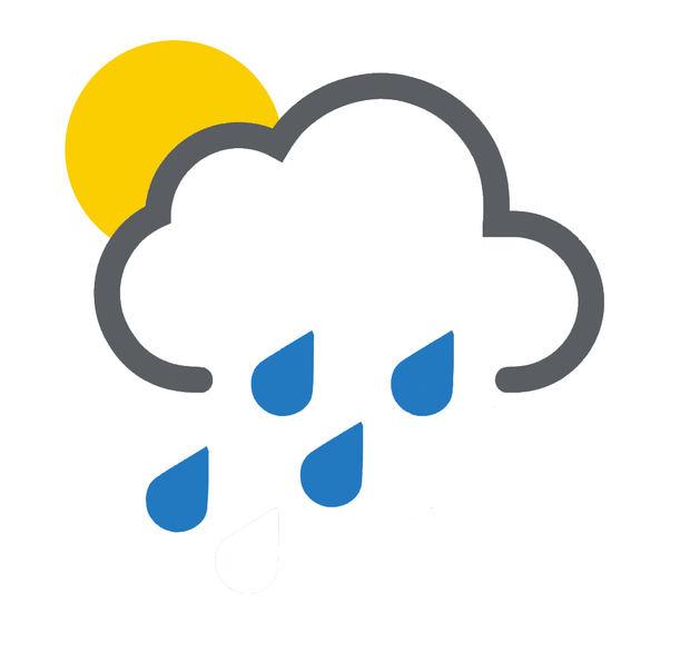 Escasas lluvias en el país esta noche