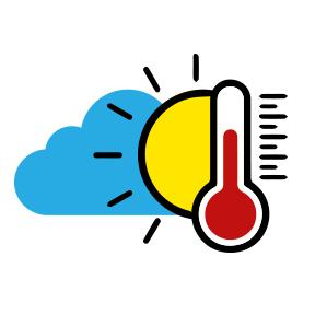 Temperaturas calurosas y chubascos locales en algunos puntos del país