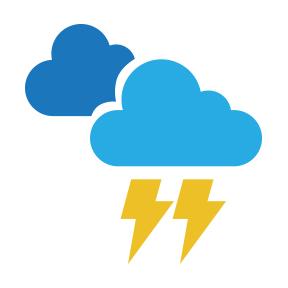 Aguaceros locales y tormentas eléctricas en varias provincias del interior por vaguada