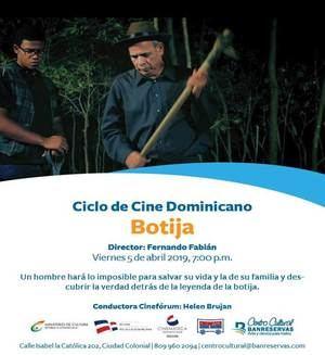 Ciclo de cine dominicano.