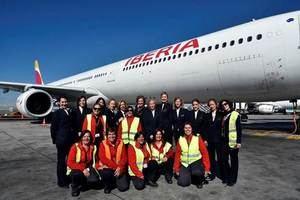 El vuelo de Iberia IB6501 de Madrid a Santo Domingo de hoy día 8 de marzo, ha estado atendido en su totalidad por mujeres