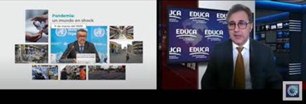 El director ejecutivo de EDUCA, señor Darwin Caraballo, presentó los fundamentos de la estructura del congreso.