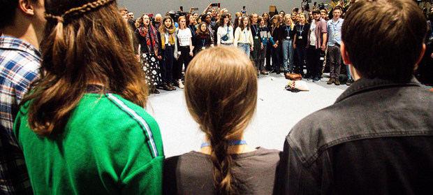 Greta Thundberg se unió a otros jóvenes activistas en la COP25 para pedir acción urgente contra el cambio climático.