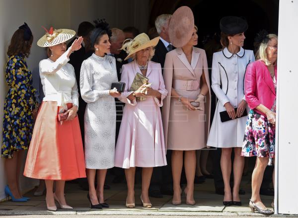 Elegancia y prestigio durante la ceremonia de la Jarretera en honor a los reyes de España y Holanda