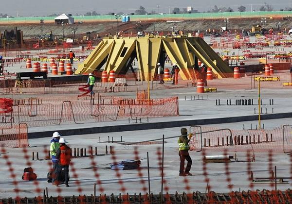 Construcción del nuevo Aeropuerto de la Ciudad de México