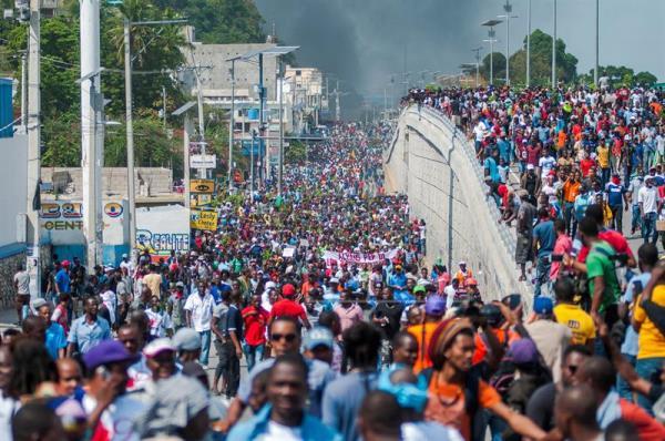 Multitudinaria protesta en Haití en segundo aniversario del presidente Moise