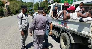 Policía Nacional en Jarabacoa.