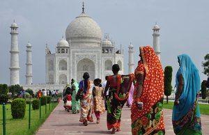 Taj Mahal, una de las Siete Maravillas del Mundo Moderno.