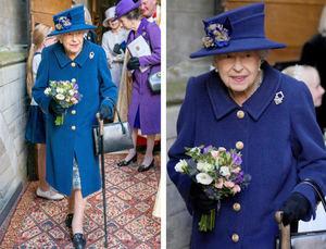 Isabel II acudió este martes a la abadía de Westminster.